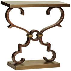 Corinth Scrolling Cast Aluminum Bronze Accent Table