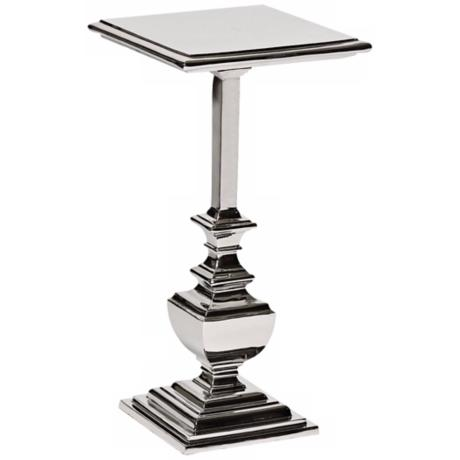 Olivieve Polished Nickel Square Accent Table