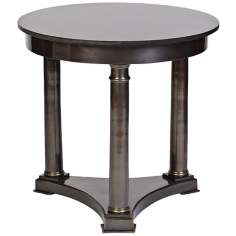 Genera 3-Legged Cast Aluminum Antique Brass Accent Table
