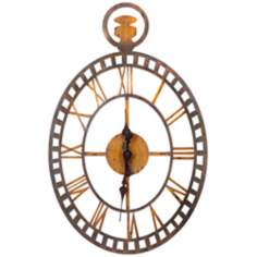 "Cooper Classics Malibu 30"" Gold and Bronze Wall Clock"
