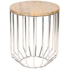 Altra Wire Frame Polished Nickel Accent Table
