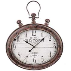 "Cooper Classics Amanda 25 3/4""High Brown/Black Wall Clock"