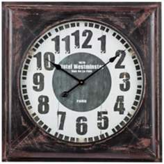 "Cooper Classics Meyer 27"" Square Black Wall Clock"