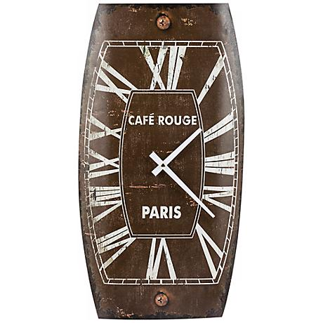"Cooper Classics Mesa 19 3/4"" High Tin Brown Wall Clock"