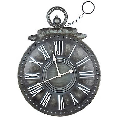"Cooper Classics Holbrook 30 3/4"" High Metal Wall Clock"