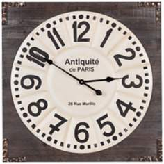 "Cooper Classics Talbert 27"" Square Wood Wall Clock"