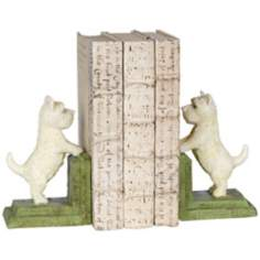 Cast Iron Westie Dog Bookends