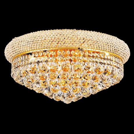 Primo 10-Light  Royal Cut Crystal and Gold Ceiling Light