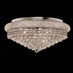 Primo 15-Light  Royal Cut Crystal and Chrome Ceiling Light