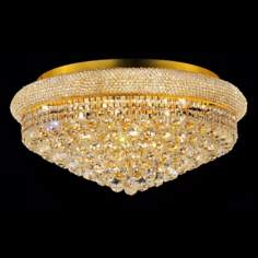 Primo 15-Light  Royal Cut Crystal and Gold Ceiling Light