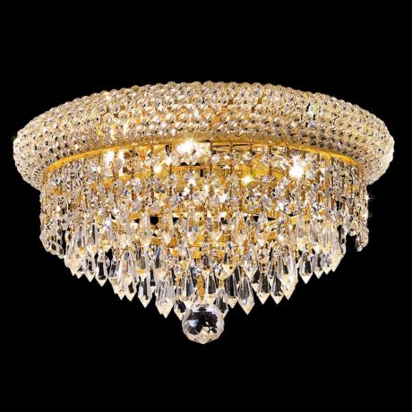 "Primo Royal Cut Crystal 14"" Wide Gold Ceiling Light"