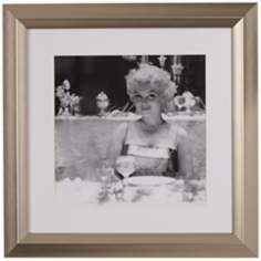 "Marilyn Monroe Dining 19 1/2"" High Black and White Wall Art"