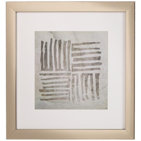 "Tribal A Etched Lines 20 1/2"" Square Framed Wall Art"