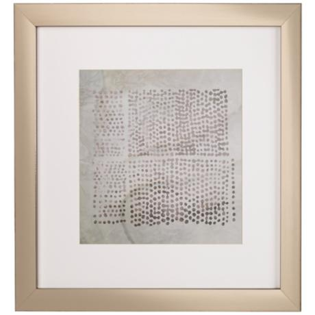 "Tribal B Etched Lines 20 1/2"" Square Framed Wall Art"