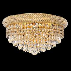 Primo Gold 8-Light Royal Cut Crystal Ceiling Light