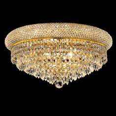 "Primo Royal Cut Crystal and Gold 20"" Wide Ceiling Light"