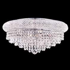 Primo Chrome 10-Light Royal Cut Crystal Ceiling Light