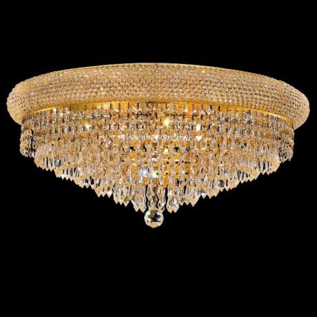 "Primo Royal Cut Crystal 24"" Wide Gold Ceiling Light"