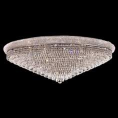 "Primo Royal Cut Crystal 48"" Wide Chrome Ceiling Light"