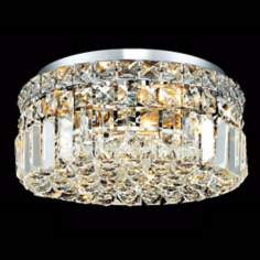 "Maxim Collection 12"" Wide 4-Light Crystal Ceiling Light"