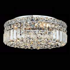 "Maxim Collection 16"" Wide Crystal Ceiling Light"
