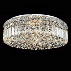 "Maxim Collection 20"" Wide Round Crystal Ceiling Light"