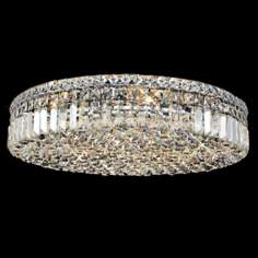 "Maxim Collection 24""W Chrome and Crystal Ceiling Light"