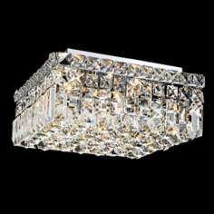 "Maxim Collection 12"" Square Crystal Ceiling Light"