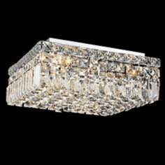 "Maxim Collection 14"" Square Crystal Ceiling Light"