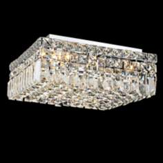 "Maxim Collection 16"" Square Crystal Ceiling Light"