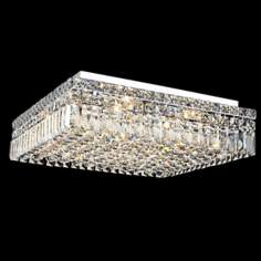 "Maxim Collection 20"" Square Crystal Ceiling Light"