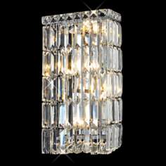 "Maxim Collection 16"" High Rectangular Crystal Wall Sconce"