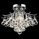 "Toureg Chrome 3-Light 16"" Wide Crystal Ceiling Light"
