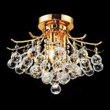 "Toureg Gold 16"" Wide Crystal Ceiling Light"
