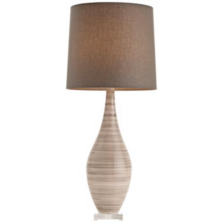 Arteriors Home Hunter Grey Striped Ceramic Table Lamp