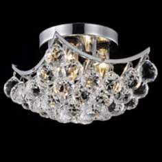 "Corona 10"" Wide Crystal Ceiling Light"