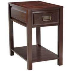 Ryder Dark Oak Wood Accent Table