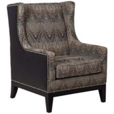 Biltmore Bonded Leather and Tapestry Accent Chair