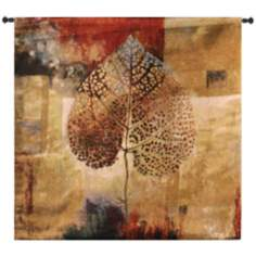"Abstract Autumn 64"" Square Tapestry with Hanging Rod"