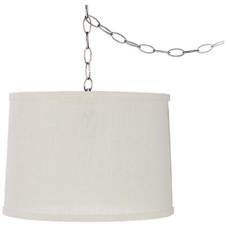 burlap 46 1 2 long chandelier chain cord cover 2c328. Black Bedroom Furniture Sets. Home Design Ideas