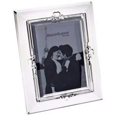 Reed and Barton Engravable Heart 5x7 Crystal Picture Frame