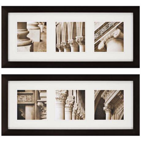 "Architecturals Set of 2 38"" Wide Framed Wall Art"