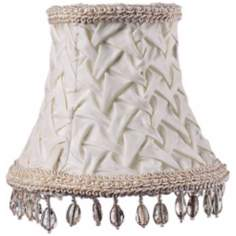 Ivory Beaded Pleat Shade 3x5x4.25 (Clip-On)