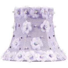 Beaded Floral Silk Lavender Shade 3x5x4.25 (Clip-On)