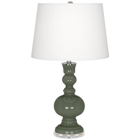 Deep Lichen Green Apothecary Table Lamp