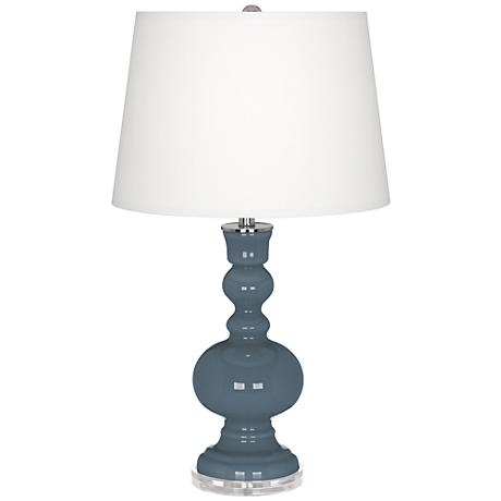 Smoky Blue Apothecary Table Lamp