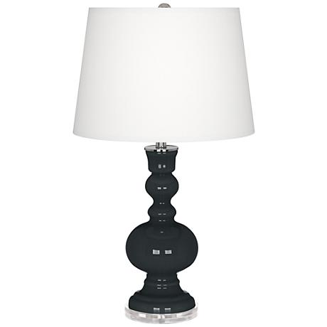 Black of Night Apothecary Table Lamp