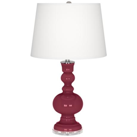 Dark Plum Apothecary Table Lamp