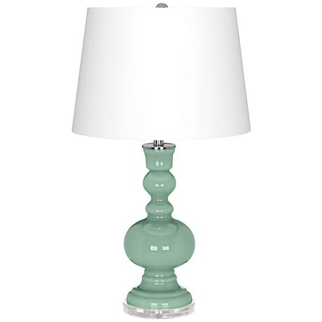 Grayed Jade Apothecary Table Lamp