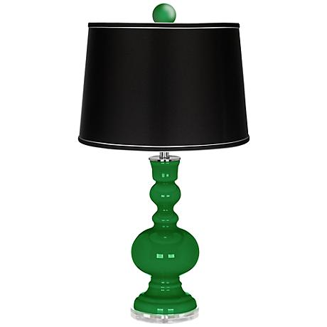 Envy Apothecary Lamp-Finial and Satin Black Shade